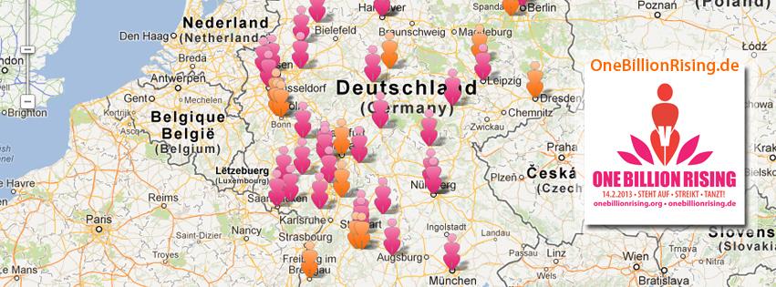 Facebook Titelbild Deutschlandkarte