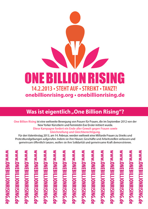 ONE BILLION RISING - Abreisszettel
