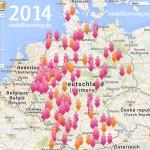 One Billion Rising Map 2014