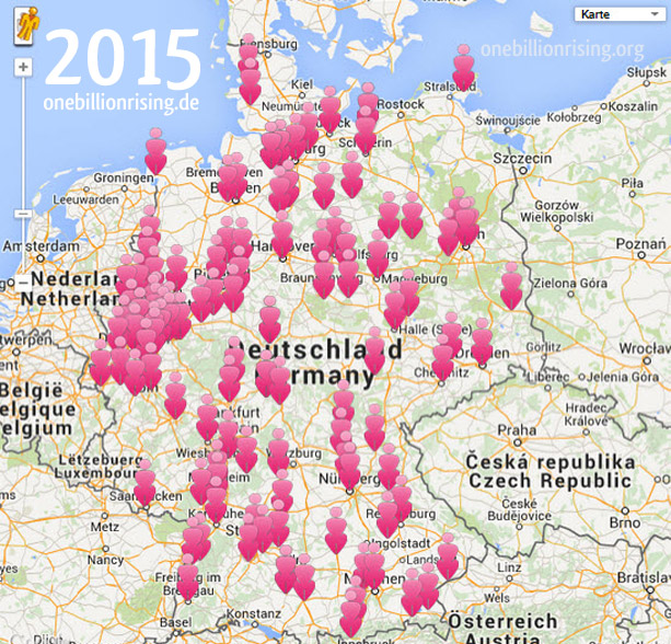 OBR Map Aktionskarte One Billion Rising