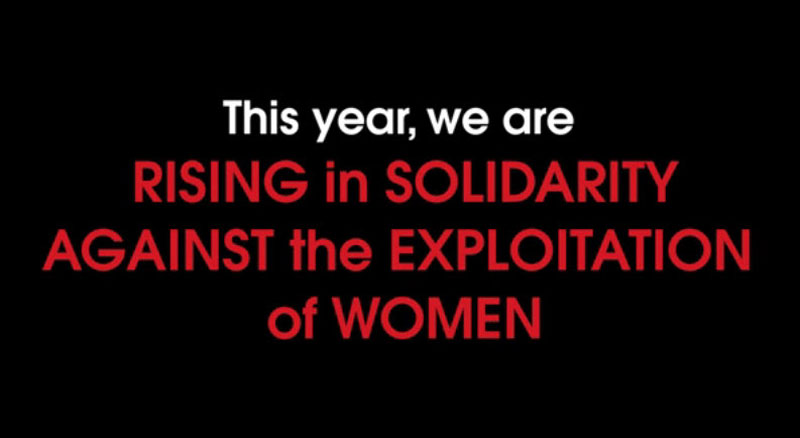 Solidarity against exploitation of women