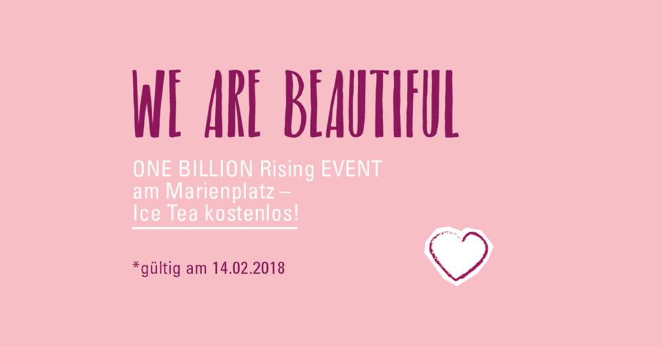 Siggis Eistee für One Billion Rising Aktvisten
