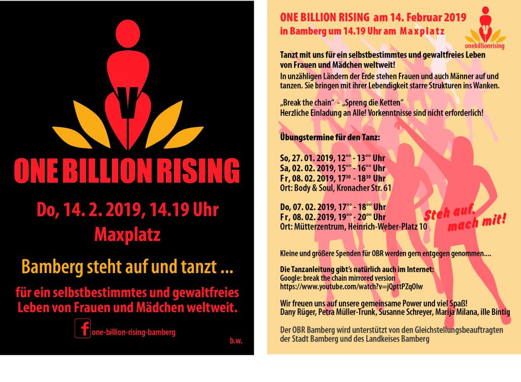 One Billion Rising Bamberg - Flyer 2019
