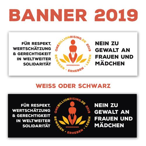 Banner Muster 2019 - Weiss oder Schwarz