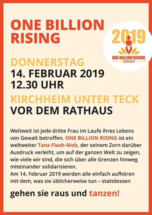 One Billion Rising 2019 Kirchheim unter Teck Flyer VS