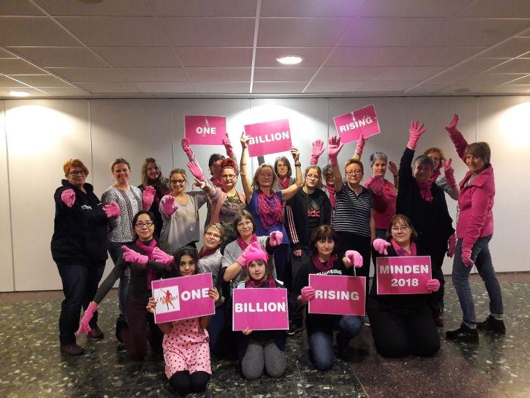 One Billion Rising Minden - Foto privat