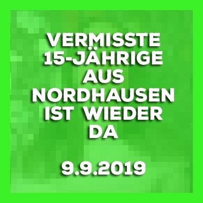 Vermisste 15-Jährige aus Nordhausen ist wieder da