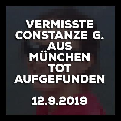 Vermisste Constanze G. aus München tot aufgefunden