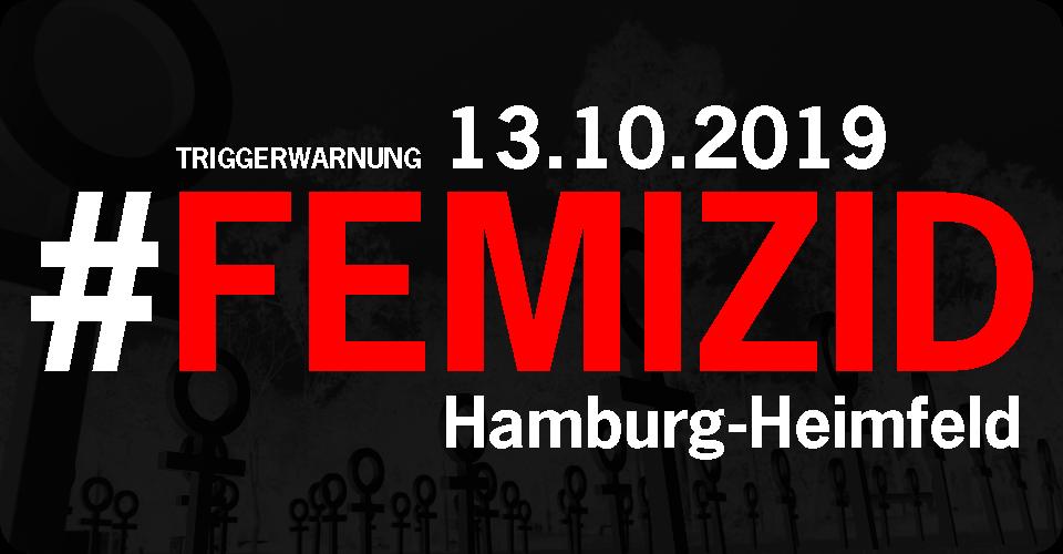 13.10.2019 - Morderversuch in Hamburg-Heimfeld. #femizid #männergewalt
