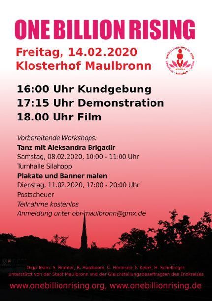 One Billion Rising 2020 Maulbronn Flyer RS