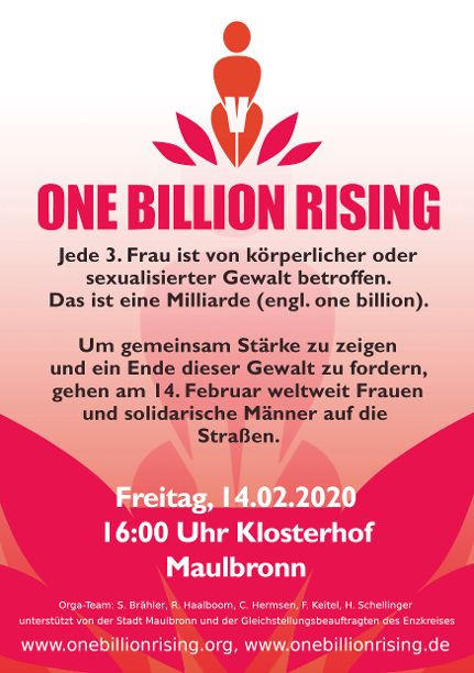 One Billion Rising 2020 Maulbronn Flyer VS