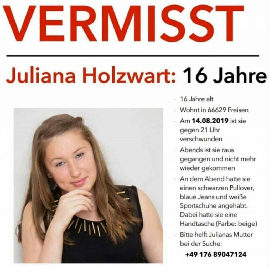 #vermisst Juliana Holzwart