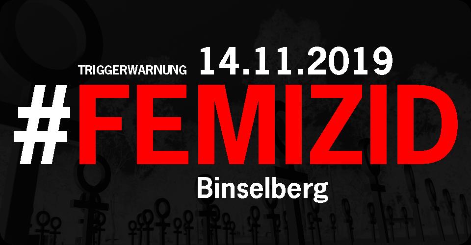 14.11.2019 #Femizid Binselberg