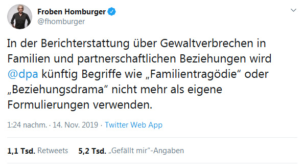 Froben Homburger Tweet 14.11.2019