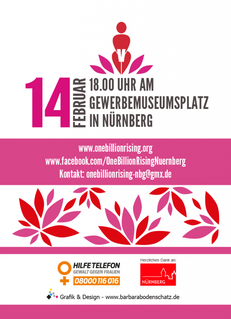 One Billion Rising 2020 in Nürnberg - Gewerbemuseumsplatz