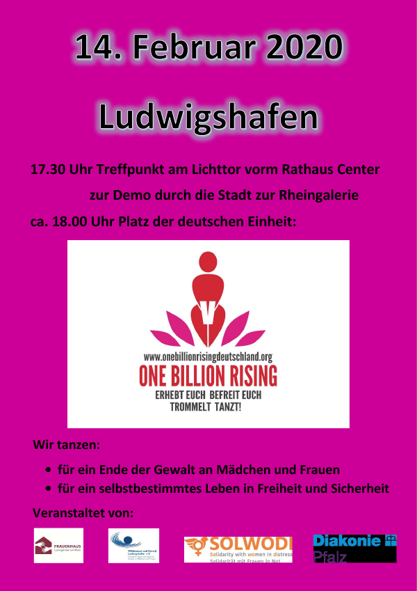 One Billion Rising 2020 Ludwigshafen am Rhein - Plakat 1
