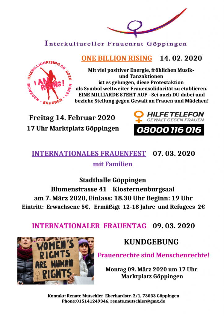 Goeppingen One Billion Rising 2020