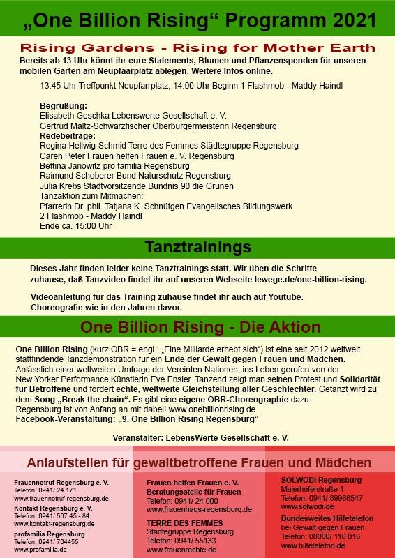 One Billion Rising 2021 Regensburg