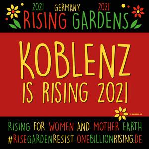 One Billion Rising 2021 Koblenz #risinggardens #obrd